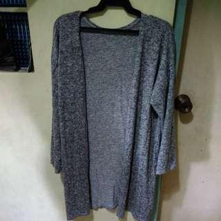 Gray Long Blazer