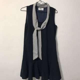 (含運)藏藍魚尾小洋裝
