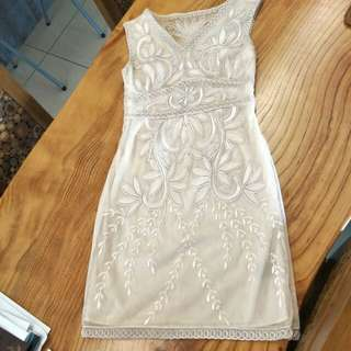 BCBG floral mesh dress