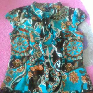 Blue flowery shirt