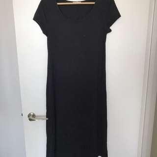 Black spring summer casual dress