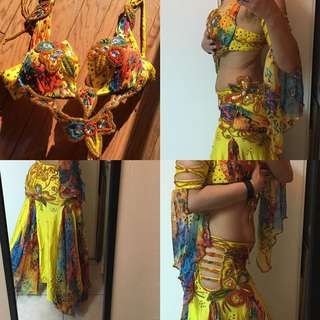 Belly Dance costume. Professional. Size M/L. Cup B/C