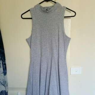 Size 8 Turtle Neck Grey Skater Dress