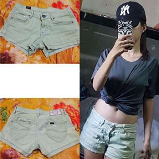 Maong short (authentic lee)