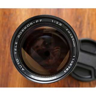 Minolta 135mm f2.8 MC mount manual focus lens