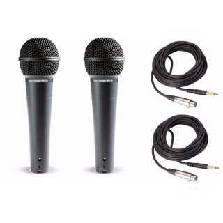 Microphone Twin Set. Audio Applegate Microphone Twin Set. Wired Connectivity. 100Hz - 15KHz. 600 Ohms Impendance. 176 grams light weight.