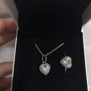 Pandora Sparkling Love Heart set