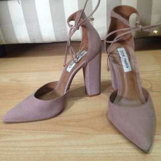 Steve Madden Dusty Rose Block Heels with Ties (size 7.5)