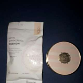 face shop anti- darkening cushion foundation