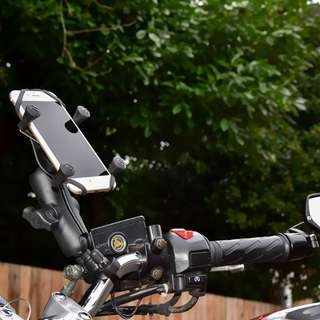 RAM Handlebar Rail Mount with Zinc Coated U-Bolt Base and Universal X-Grip®Cell/iPhone Cradle