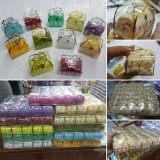Vaganza towel wedding favors