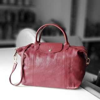 Authentic Longchamp Le Pliage Cuir