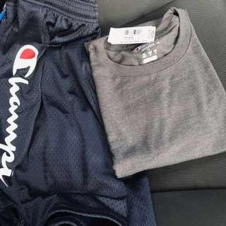 Champions short X tshirt tee logo