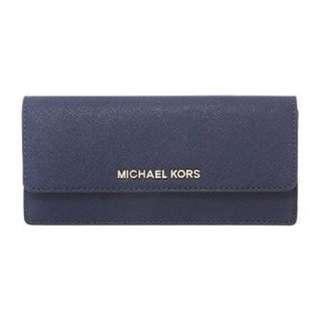 Michael Kors Saffiano Wallet In Navy