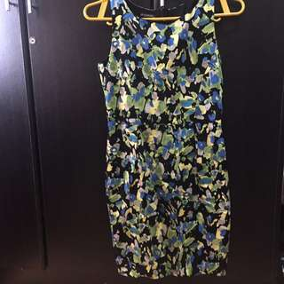 Avenue Blue Flowery Dress