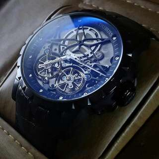 Roger Dubuis RD01SQ Excalibur Double Flying Tourbillon Leather Automatic
