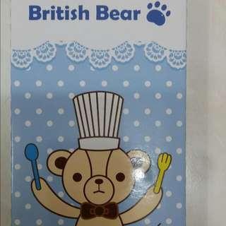 英國熊餐具3件組