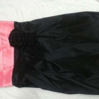 Pink and black Pagani dress