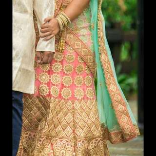 Pre loved Grand lehenga with stones