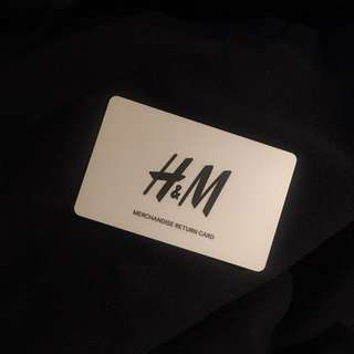 H&M Merchandise Card Worth $79.95