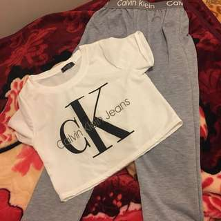 CK Brand new tracksuit💖👌🏻 with crop top sz S (8-10)