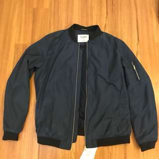PullBear Navy Blue Bomber Jacket