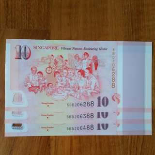 "SG50 Commemorative $10 Note Ending ""88"" *** STRONG FAMILIES  ***"