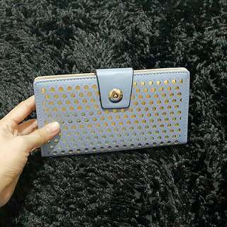 Pastel and Gold Long Wallet