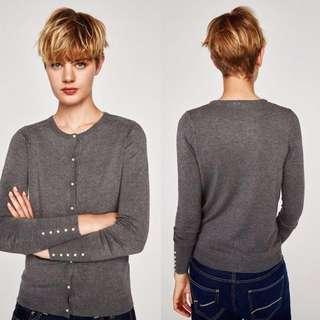 OshareGirl 09 歐美純色珍珠裝飾純色毛衣針織衫外套上衣