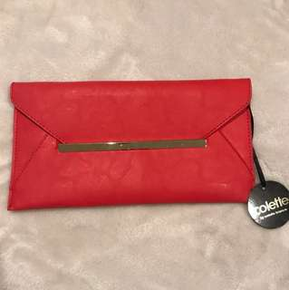 Red Collette Clutch