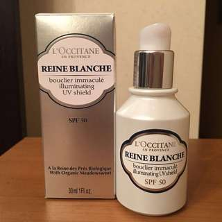 L'OCCITANE Reine Blanche illuminating UV shield SPF 50 白皇后亮白防曬乳