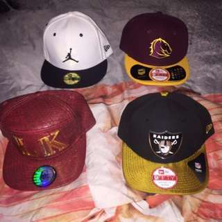 Authentic Hats & a cap carrier