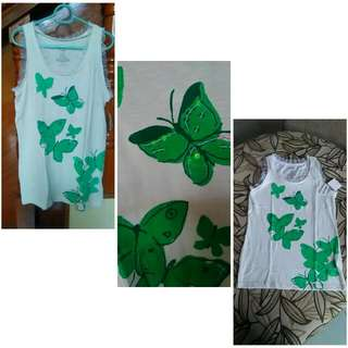 Old Navy butterfly lace sleeveless
