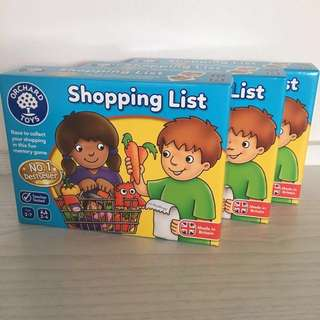 英國Orchard Toys Shopping List game cards