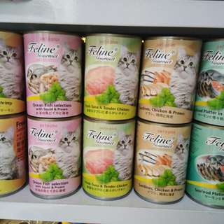 Feline wet food in can for cats