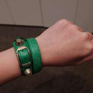 Balenciaga Green Bracelet