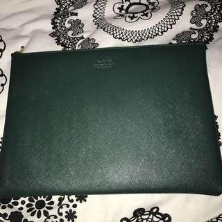 Dark green pouch/clutch