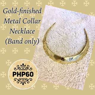Gold-Finished Metal Collar Necklace (Band Only)