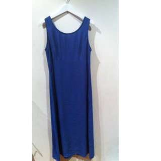 K Studio Full Length Blue Dress
