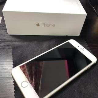 Iphone 6 plus 128gb gold 金色 full set