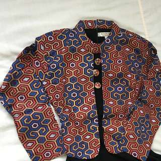 Batik Abaya Jubah Design 3