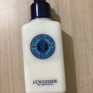 L'occitane Ultra Rich Lotion Travel Size