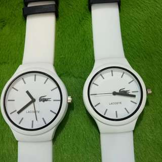 lacoste class a couple watch