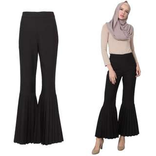 Poplook Pleated Hem Pants