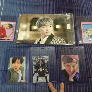 Bts and wanna one photocards official