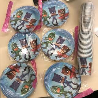 BN Pj mask plate and paper cup