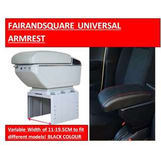UNIVERSAL CAR ARMREST(NO USB PORT, SAMPLE PIC ONLY) - FAIR AND SQUARE PROMOTION - - (BRAND NEW WITH BOX) [Pre-order] - BLACK OR BEIGE
