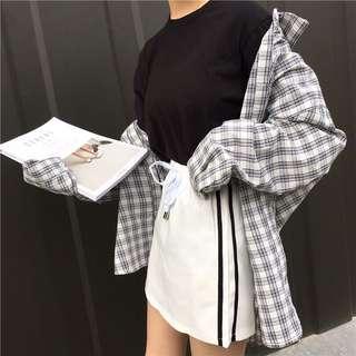 休閒運動白裙