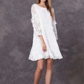 Stevie May Floral Embroidered Mini Dress (size M)