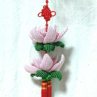 (10% Off) 100% Handmade 3D Chinese Knot Lotus For Decoration At Factory Prices 全手工立体中国结莲花-用于装饰 (以厂商价大促销)